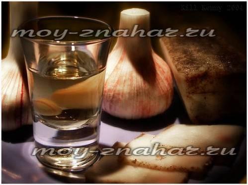 чеснок и водка