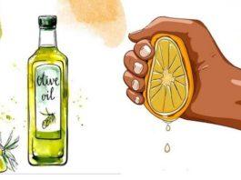 Выжмите 1 лимон, смешайте с 1 столовой ложкой оливкового масла, рецепт долголетия