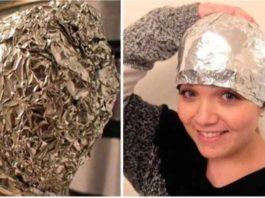 Народное средство из алюминиевой фольги после мытья волос. Дорогие процедуры в салонах красоты больше не нужны